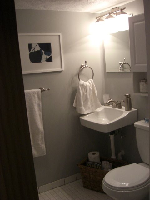 Shower Curtains crate and barrel shower curtains : Basement Bathroom Remodel - Laurie Jones Home