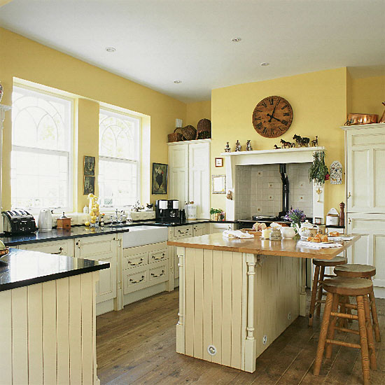 Yellow kitchens laurie jones home What color cabinets go with yellow walls