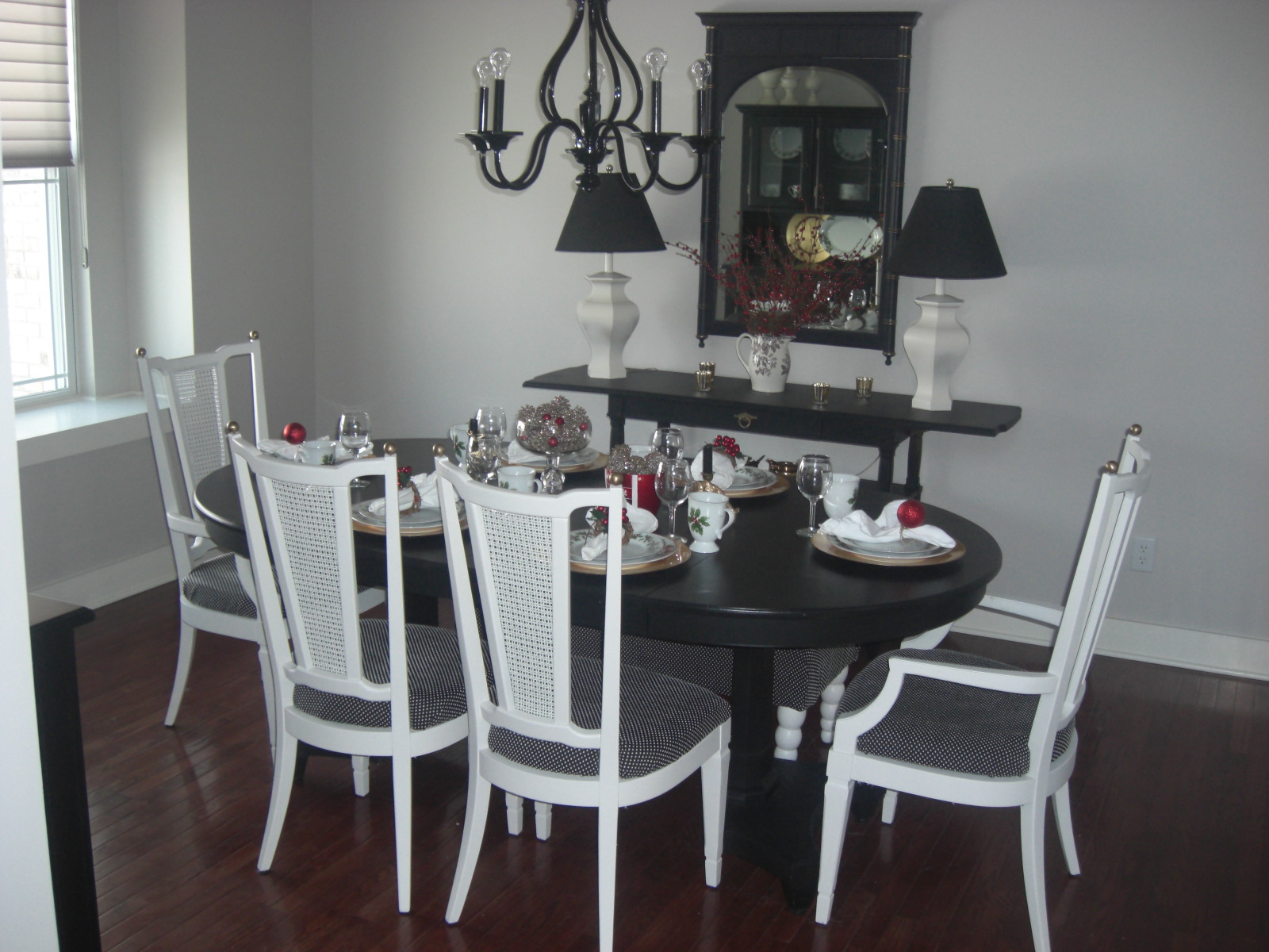 The dining room table laurie jones home for Painted dining table before and after