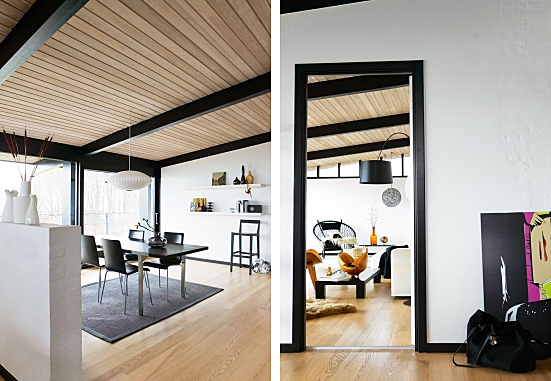 Black window trim laurie jones home - Black house white trim ...